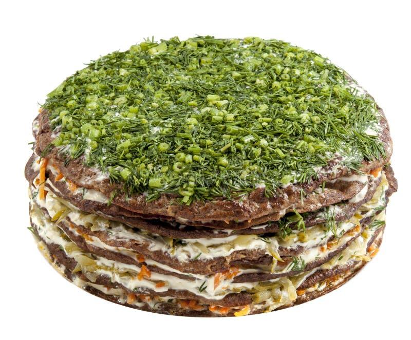 Gâteau de viande sur le fond blanc photo stock