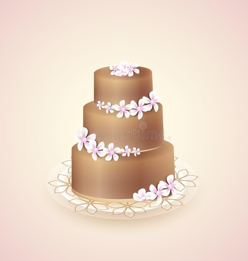 Gâteau doux illustration libre de droits