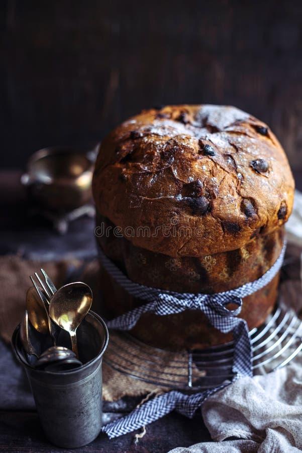 Gâteau doux de panettone photo libre de droits