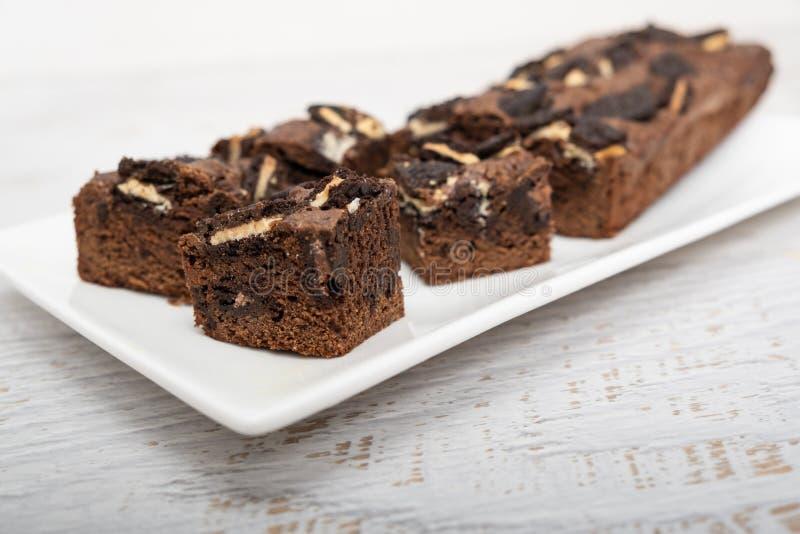 Gâteau doux fait maison avec des puces de chocolat photographie stock libre de droits