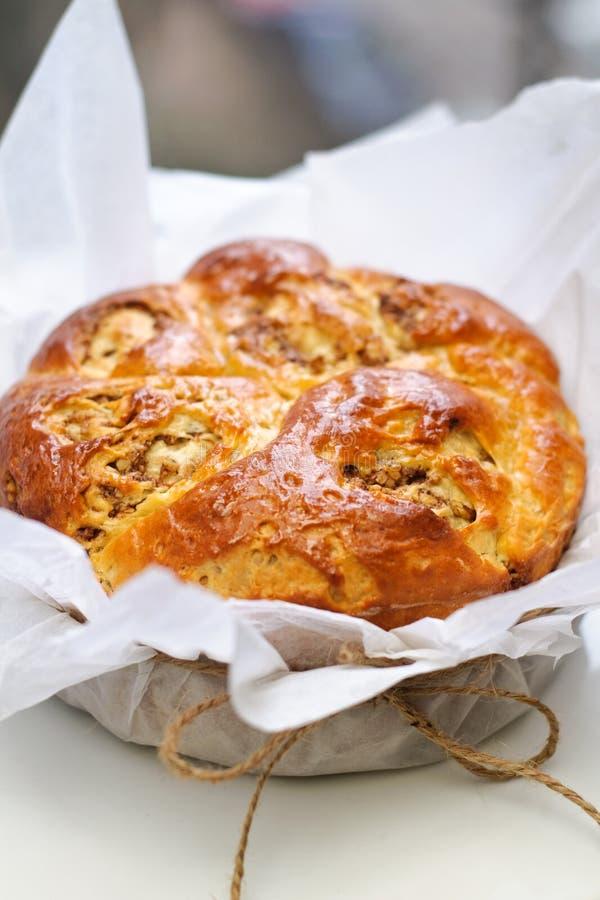 Gâteau doux rond de pain image libre de droits