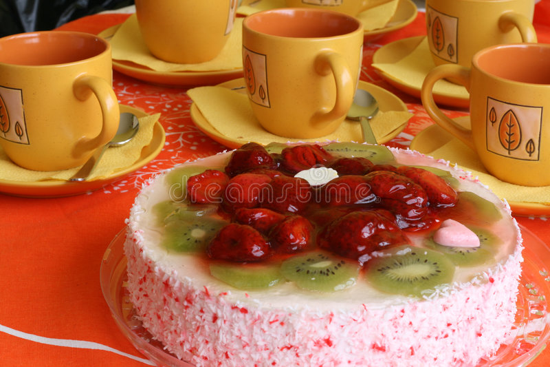 Gâteau et café image libre de droits
