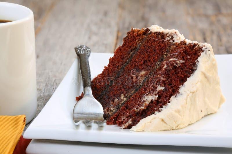 Gâteau et café de chocolat photographie stock libre de droits