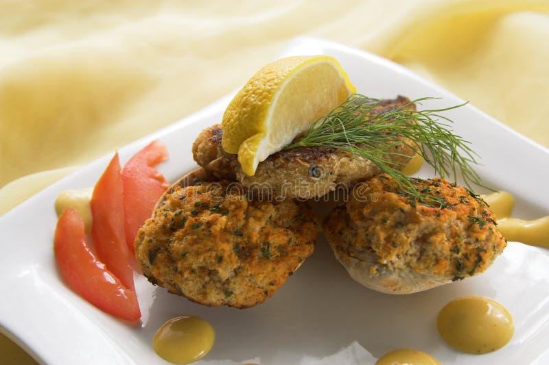 Gâteau et palourdes de crabe photos libres de droits