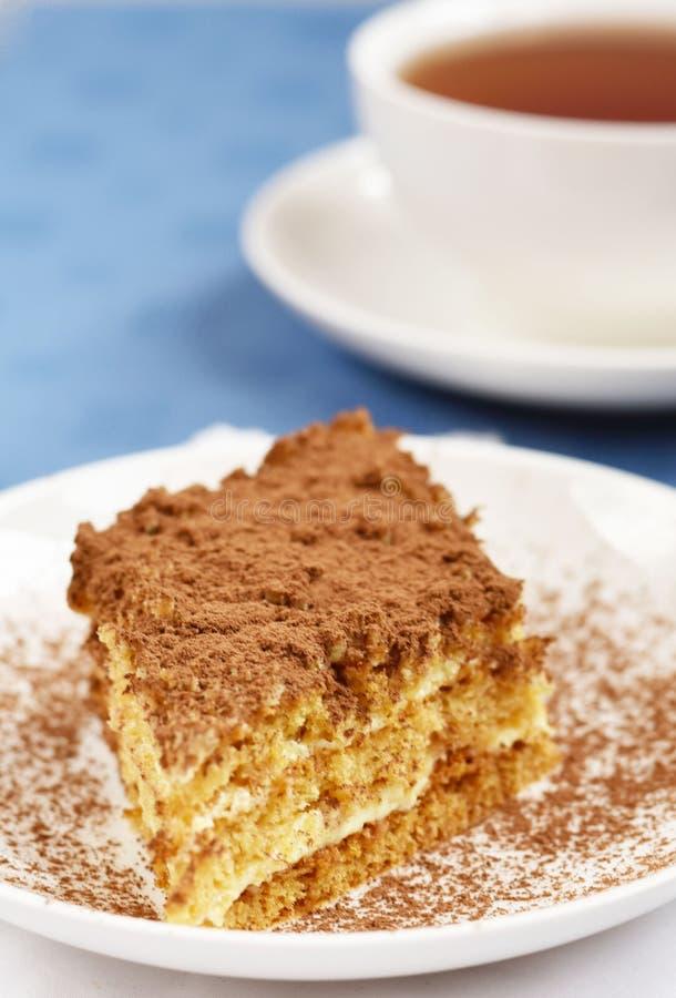 Gâteau et thé photos libres de droits
