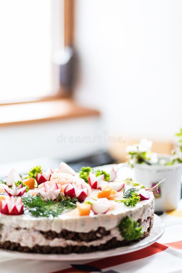 Gâteau finlandais de sandwich à insulaire photo stock