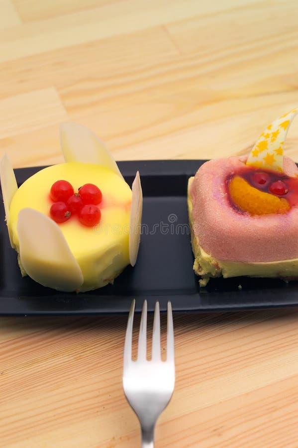 Gâteau frais de baie image stock