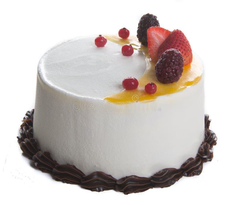 Gâteau gâteau de crème glacée sur le fond photo stock