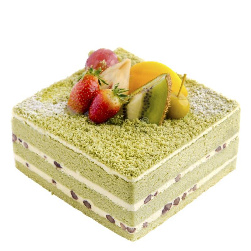 Gâteau japonais de Macha images stock