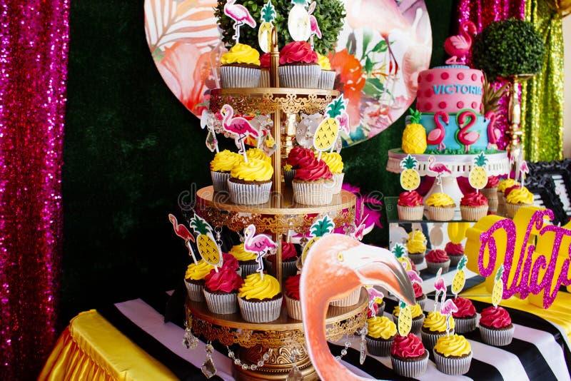 Gâteau 11 l'anniversaire du Victoriaen juillet image libre de droits