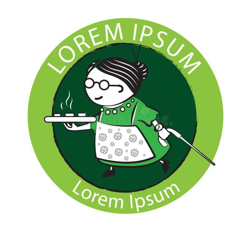 Gâteau Logo Design de grand-maman illustration libre de droits