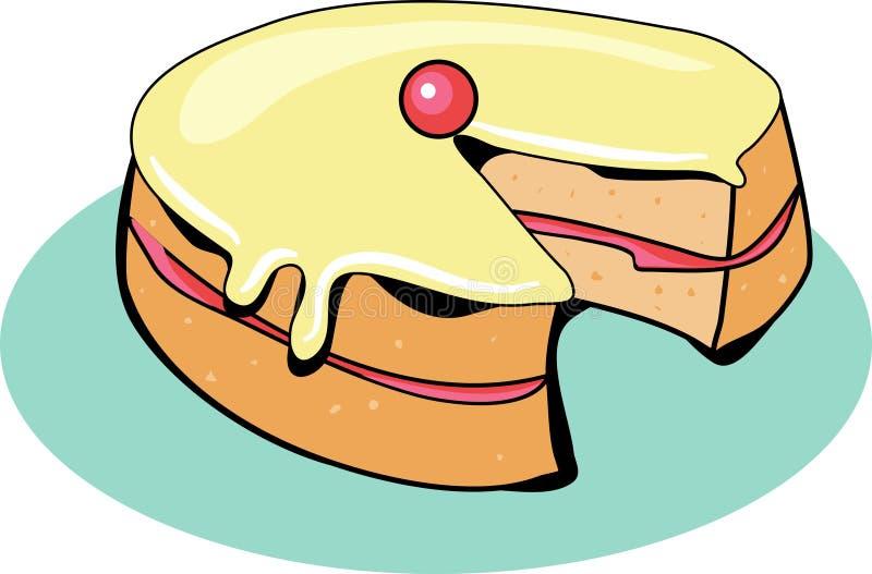 Gâteau mousseline illustration de vecteur