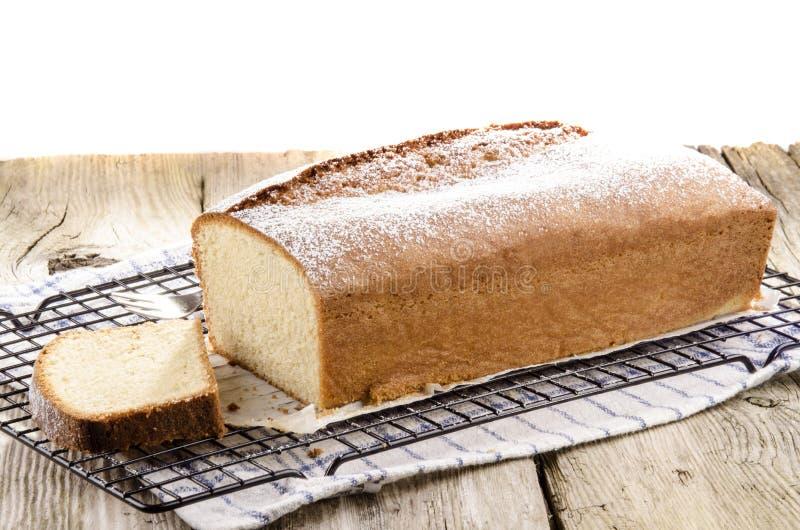 Gâteau mousseline avec l'arome de citron images stock