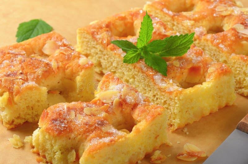 Gâteau mousseline d'amande photo libre de droits