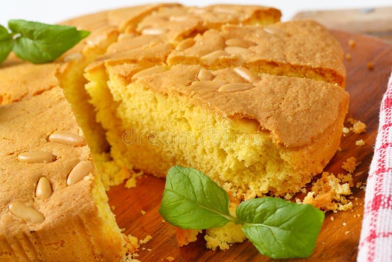 Gâteau mousseline de beurre images stock