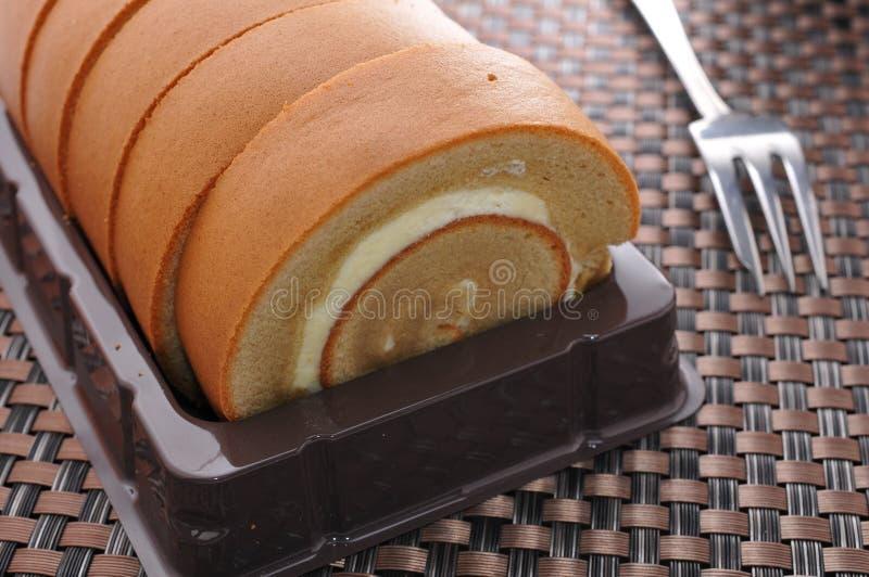Gâteau mousseline de café image stock