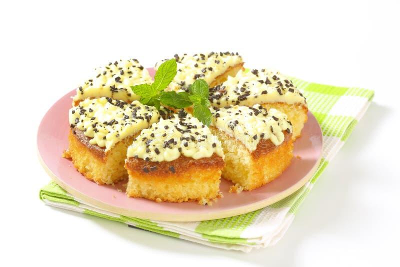 Gâteau mousseline de citron photo stock