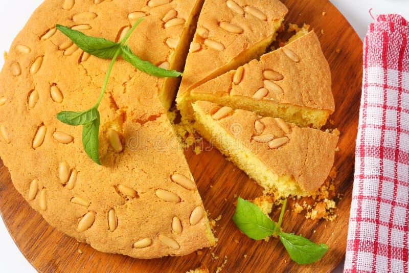 Gâteau mousseline de citron images libres de droits
