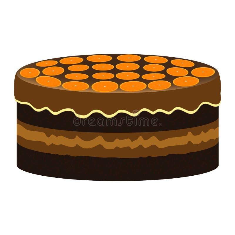 Gâteau orange illustration libre de droits
