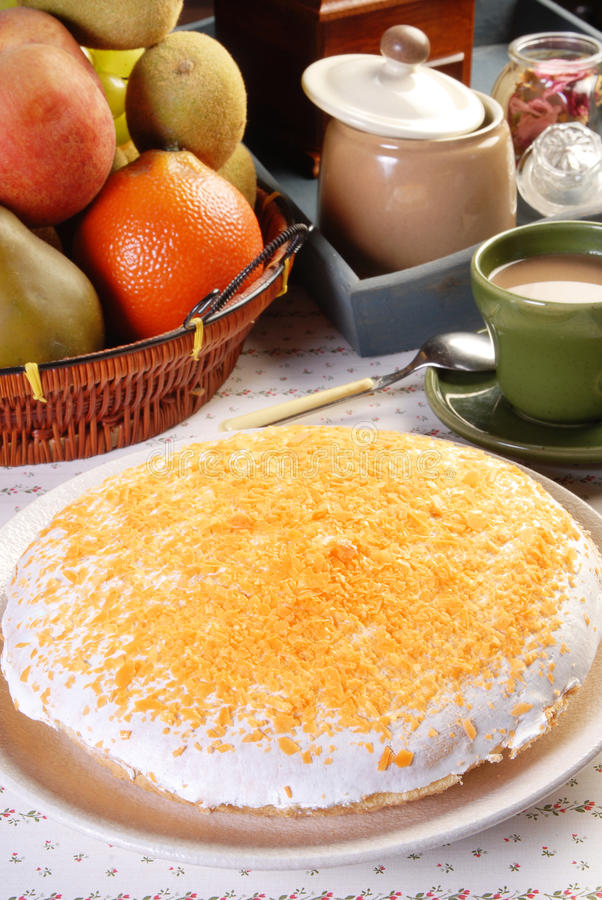 Gâteau orange de Boston photographie stock libre de droits