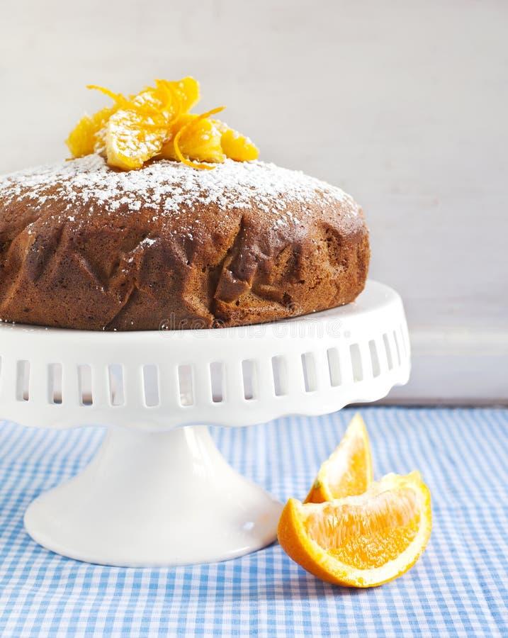 Gâteau orange de yaourt images stock