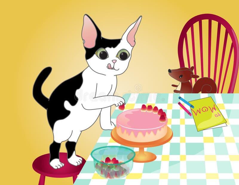 Gâteau pour la mère illustration libre de droits
