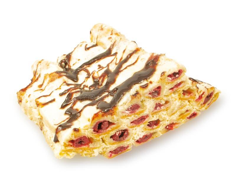 Gâteau rempli de la crème et de chocolat photo libre de droits
