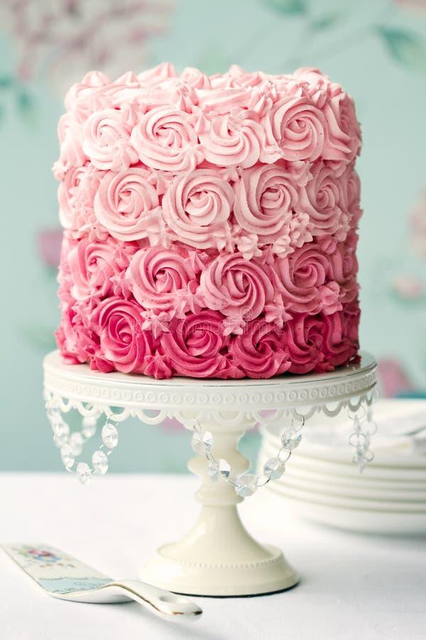 Gâteau Rose D Ombre Images stock