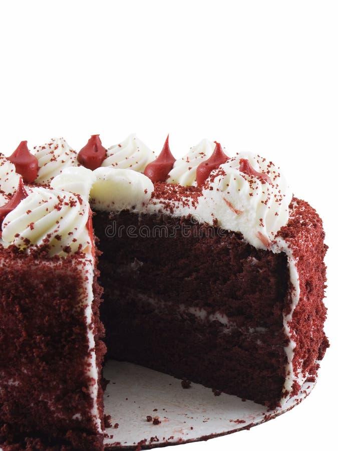 Gâteau rouge de velours image stock