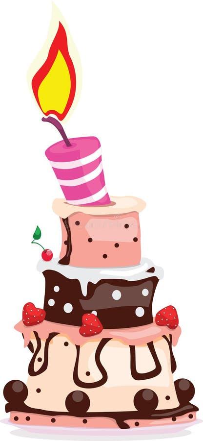Gâteau savoureux illustration de vecteur