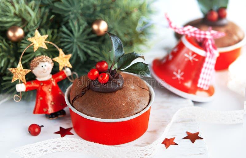 Gâteau savoureux de Noël photographie stock libre de droits
