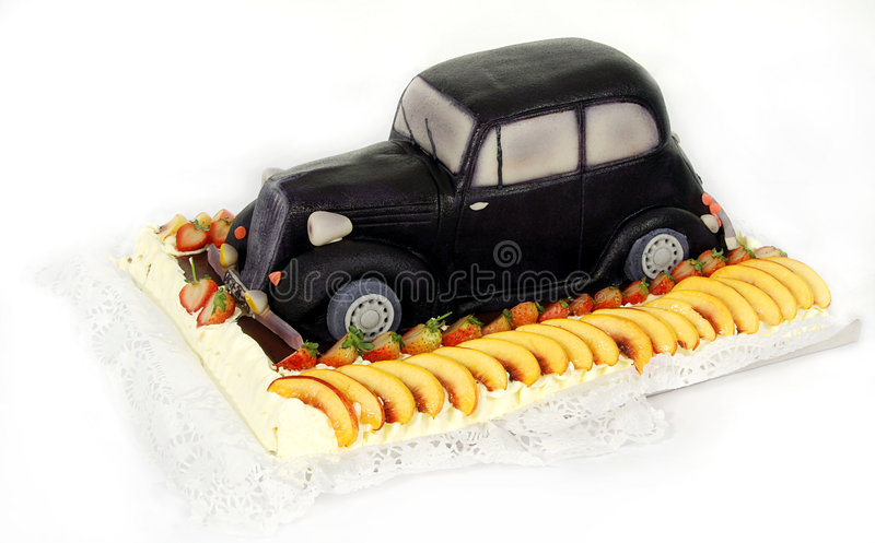 Gâteau spécial - vieux véhicule photos stock