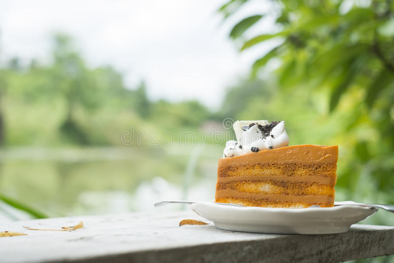 Gâteau thaï de thé photos libres de droits