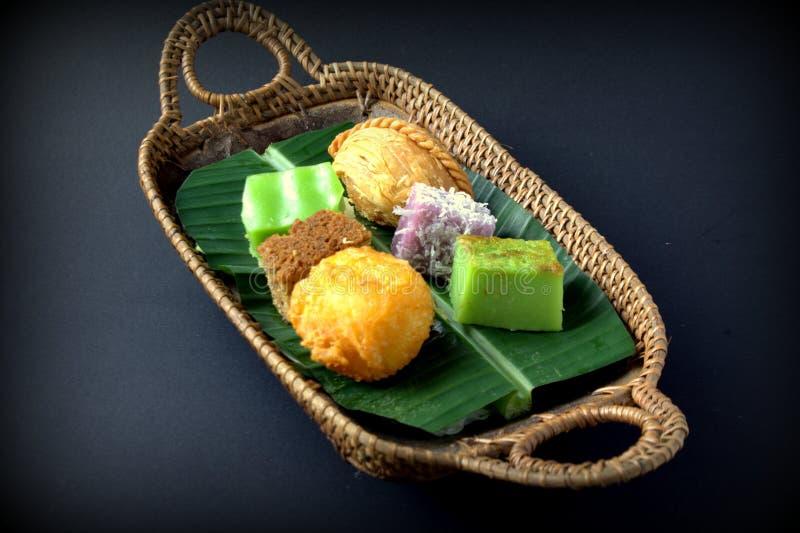 Gâteau traditionnel de la Malaisie et de l'Indonésie photographie stock