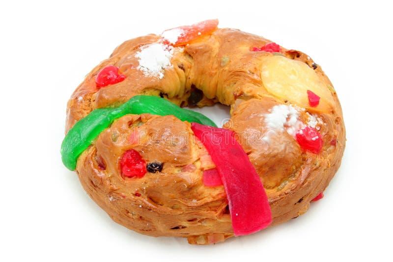 Gâteau traditionnel de Noël images stock