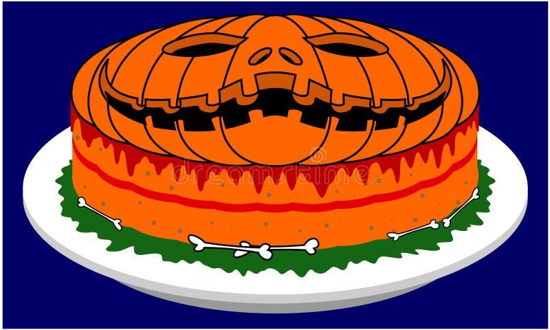 Gâteau unique de Halloween illustration stock
