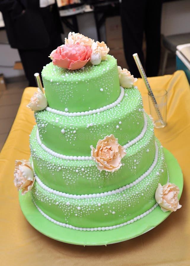 Gâteau vert image stock