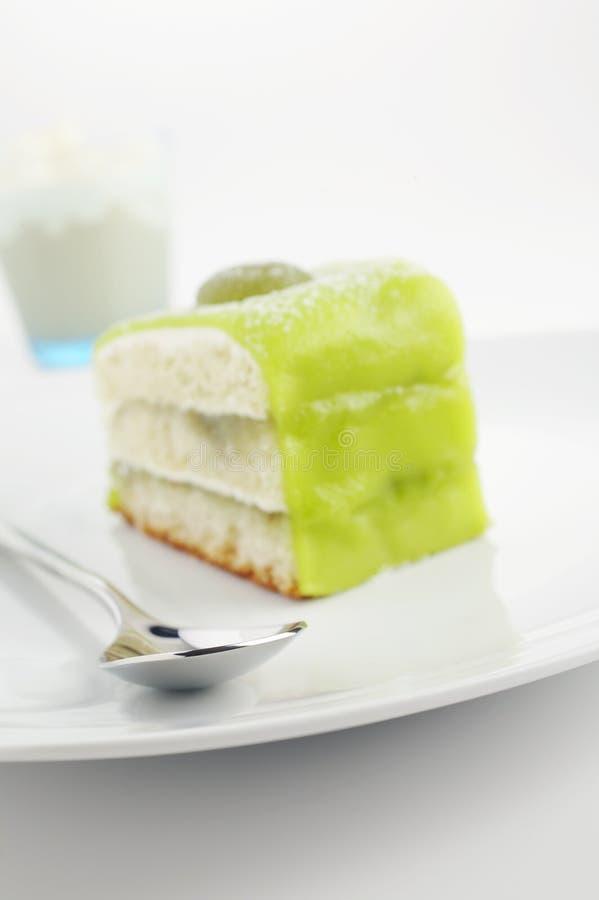 Gâteau vert photo libre de droits