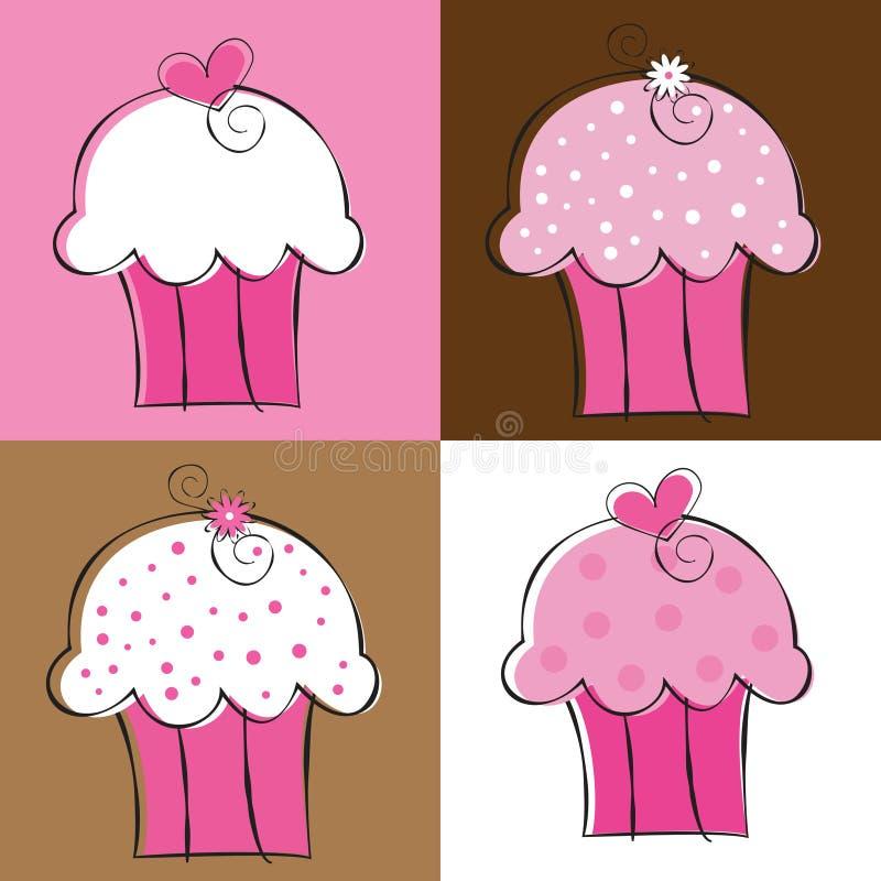Gâteaux illustration libre de droits