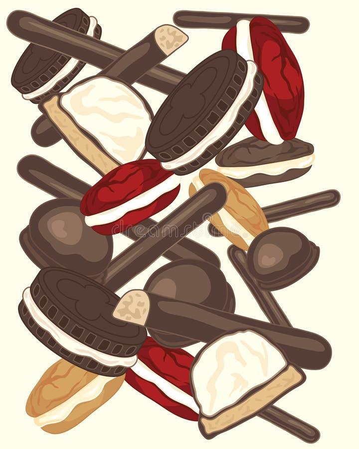 gâteaux illustration de vecteur