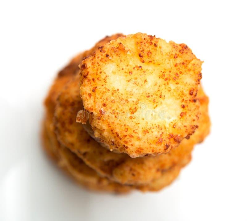Gâteaux au fromage sur un fond blanc photographie stock