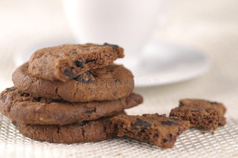 Gâteaux aux pépites de chocolat photos stock