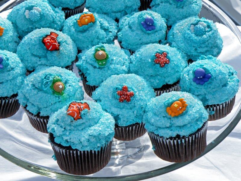 Gâteaux bleus image libre de droits