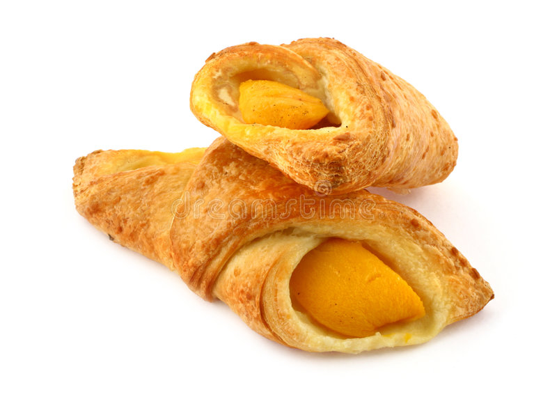 Gâteaux d'abricot de pâtisserie française image stock