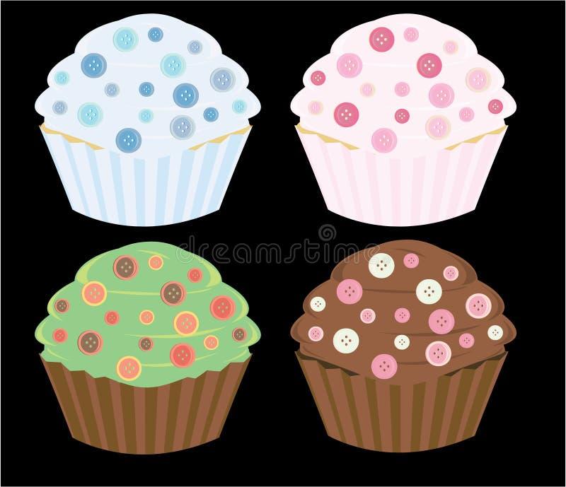 Gâteaux de bouton illustration de vecteur