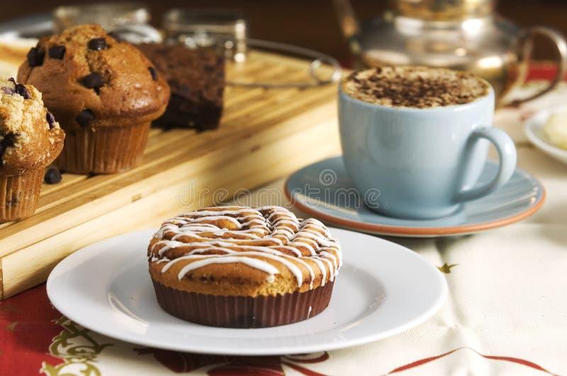 Gâteaux de café photographie stock libre de droits