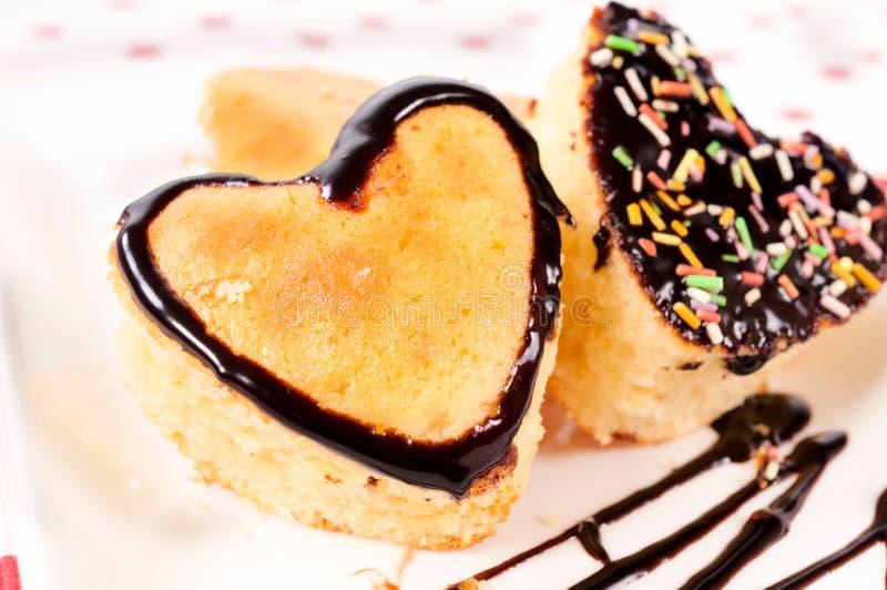 Gâteaux de coeur photo stock