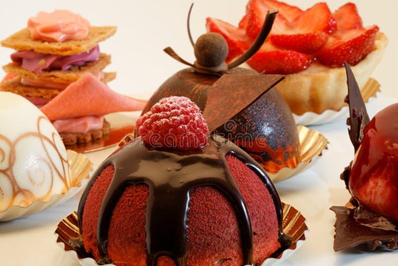 Gâteaux de créateur image libre de droits