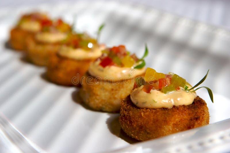Gâteaux de crabe image libre de droits