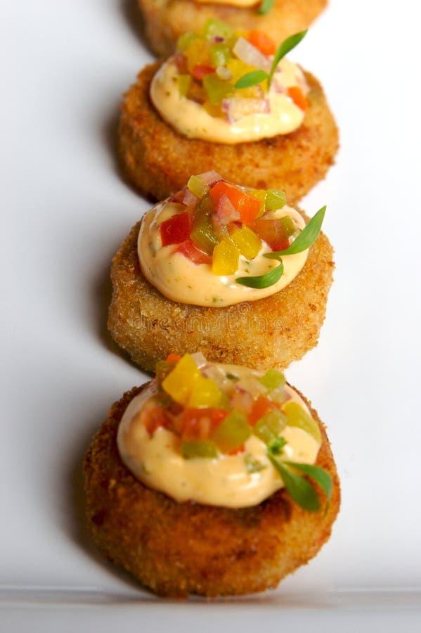Gâteaux de crabe photographie stock